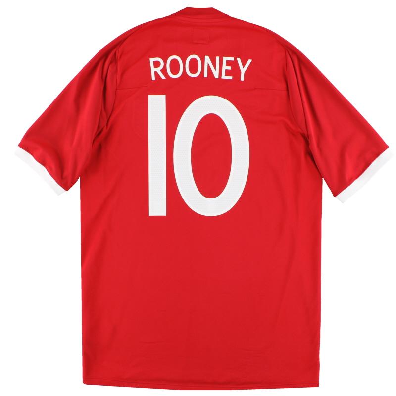 2010-11 England Umbro Away Shirt Rooney #10 M
