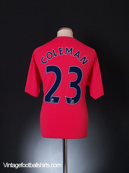 2010-11 Everton Away Shirt Coleman #23 XL
