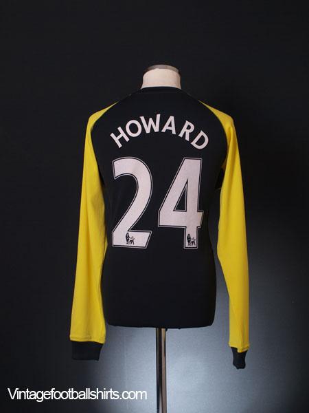 2010-11 Everton Goalkeeper Shirt Howard #24 L