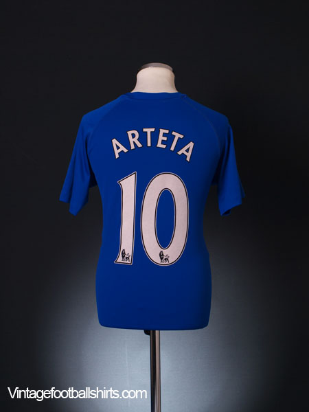 2010-11 Everton Home Shirt Arteta #10 M