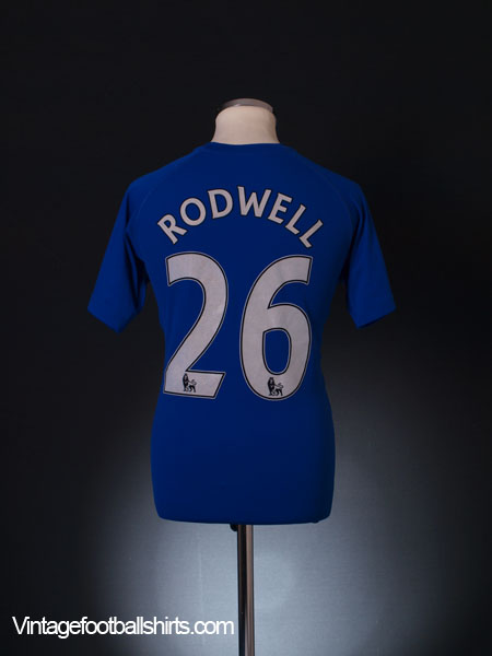 2010-11 Everton Home Shirt Rodwell #26 M