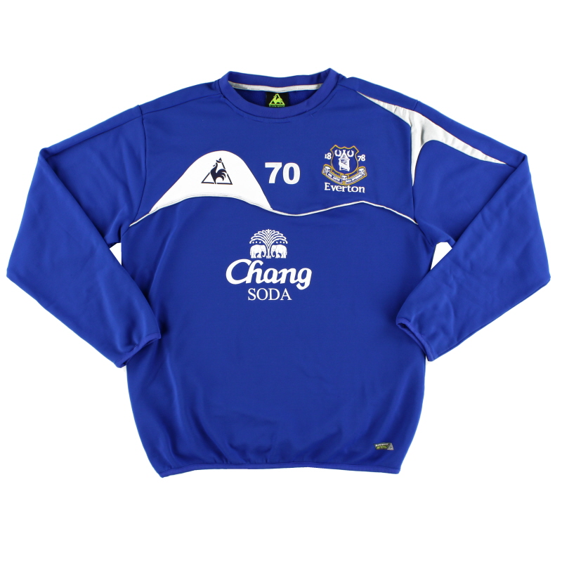 2010-11 Everton Player Issue Training Jumper #70 L