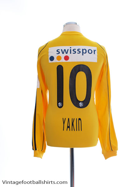 2010-11 FC Luzern Match Issue Away Shirt Yakin #10 L/S L - 742165