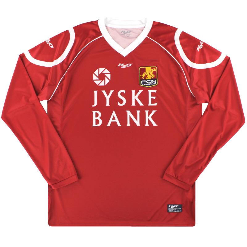2010-11 FC Nordsjaelland Home Shirt L/S *Mint* XL