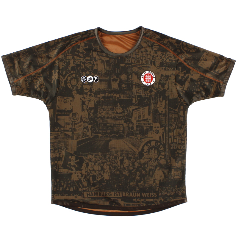 2010-11 FC St. Pauli Centenary Reversible Home Shirt *As New* L