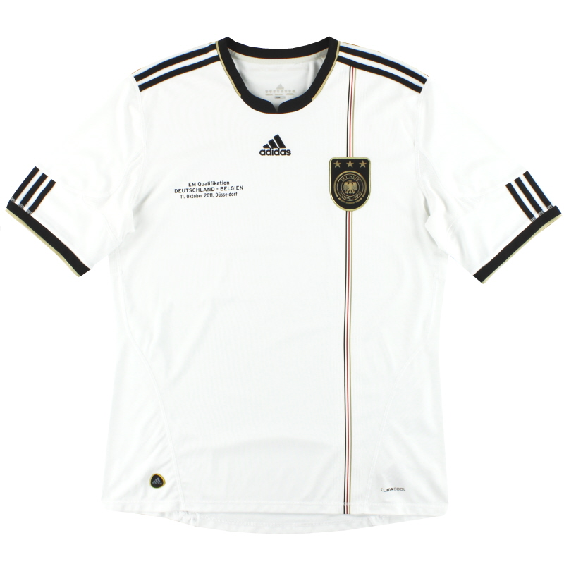 2010-11 Germany adidas 'v. Belgien' Home Shirt XL - P41477