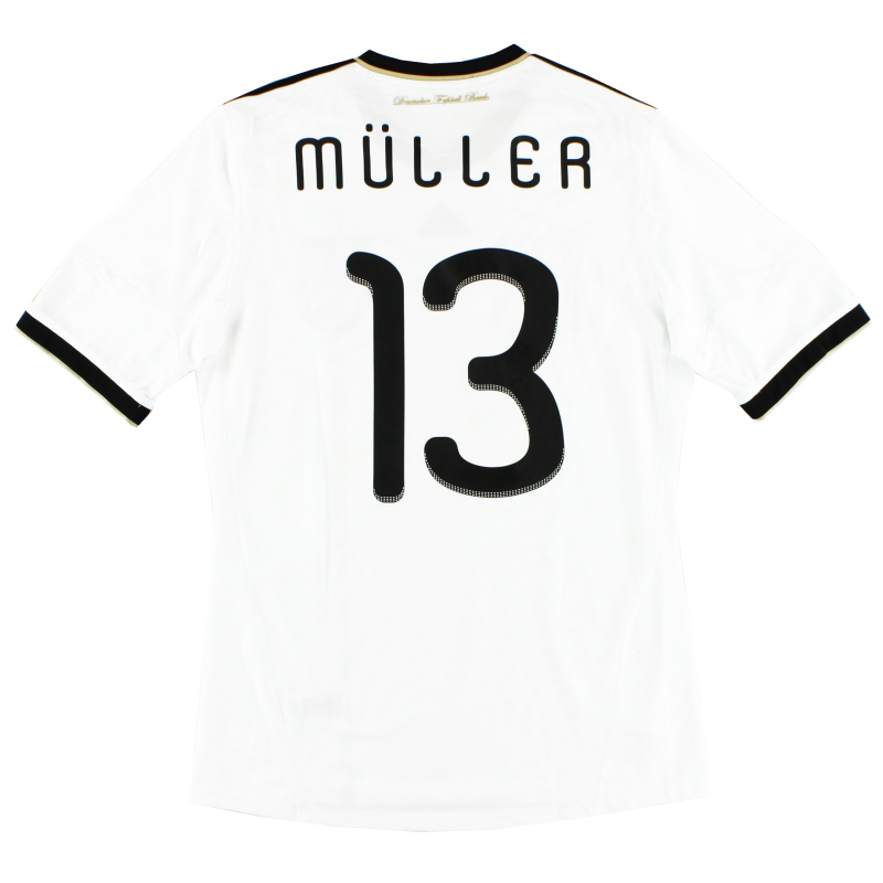 2010-11 Germany Home Shirt Muller #13 M - P41477