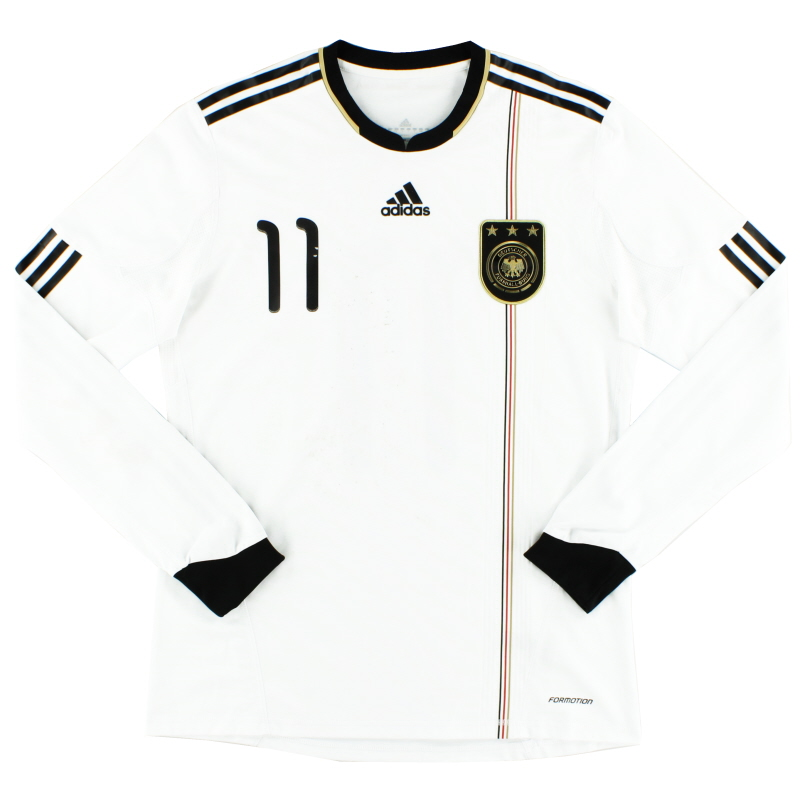 2010-11 Germany Player Issue 'Formotion' Home Shirt #11 L/S L