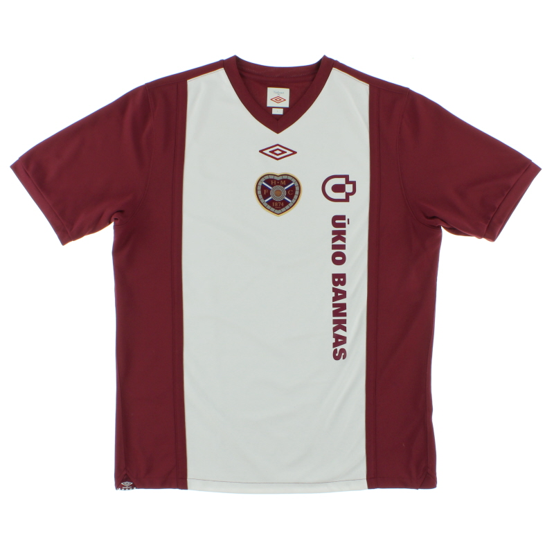 2010-11 Hearts Home Shirt L