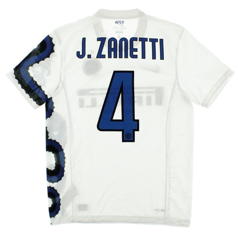 2010 11 Inter Milan Away Shirt J Zanetti 4 M For Sale 382248 105