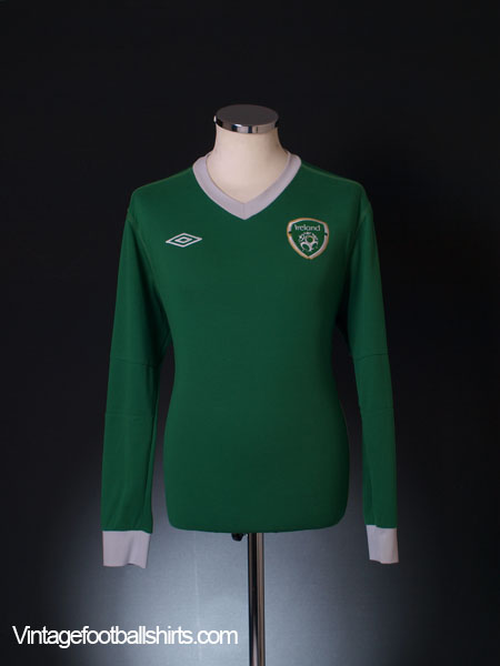 2010-11 Ireland Player Issue Home Shirt L/S L