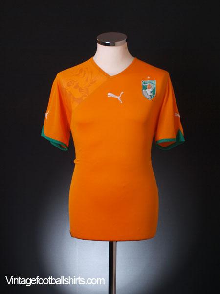 2010-11 Ivory Coast Home Shirt S