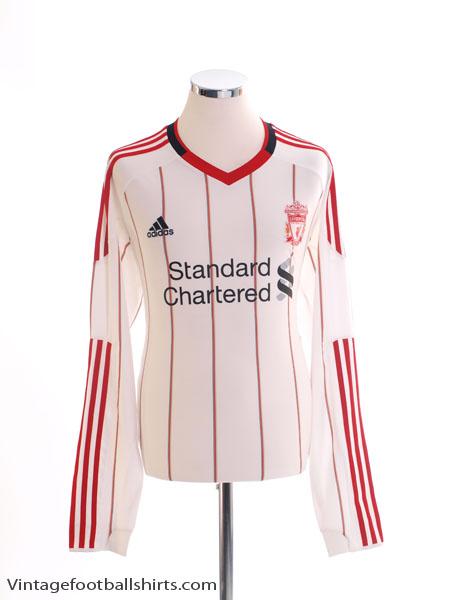 2010-11 Liverpool Away Shirt L/S *Mint* L