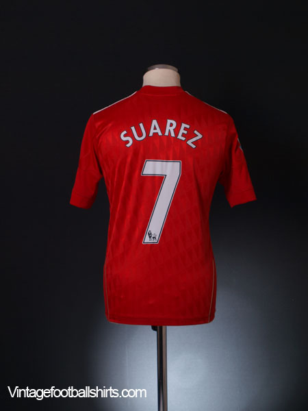 2010-11 Liverpool Home Shirt Suarez #7 Y