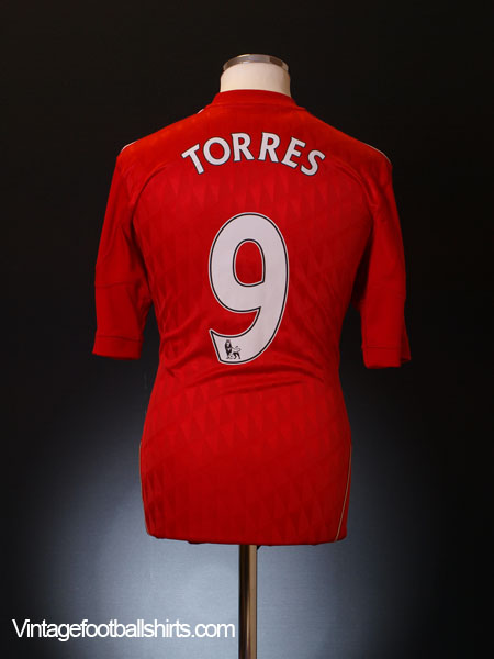 2010-11 Liverpool Home Shirt Torres #9 L