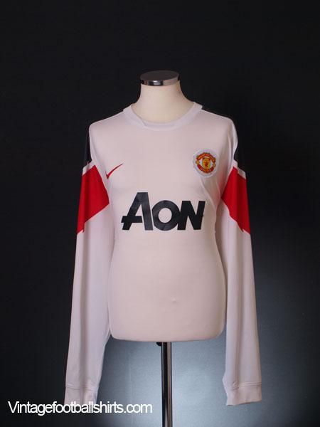 2010-12 Manchester United Away Shirt L/S 3XL