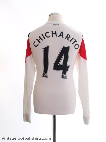 2010-11 Manchester United Away Shirt Chicharito #14 L/S M - 382997-105