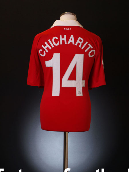 922893b6603 2010-11 Manchester United CL Home Shirt Chicharito  14  BNWT  XL for ...