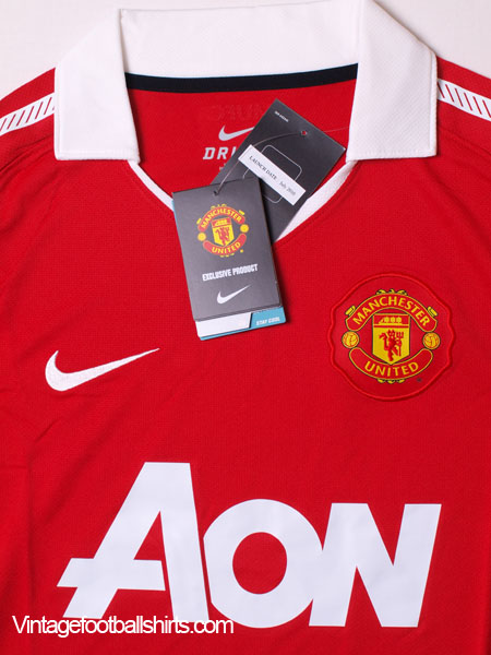 discount 31484 b9802 2010-11 Manchester United Home Shirt BNIB