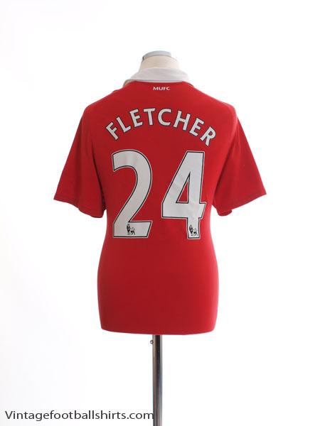 2010-11 Manchester United Home Shirt Fletcher #24 M
