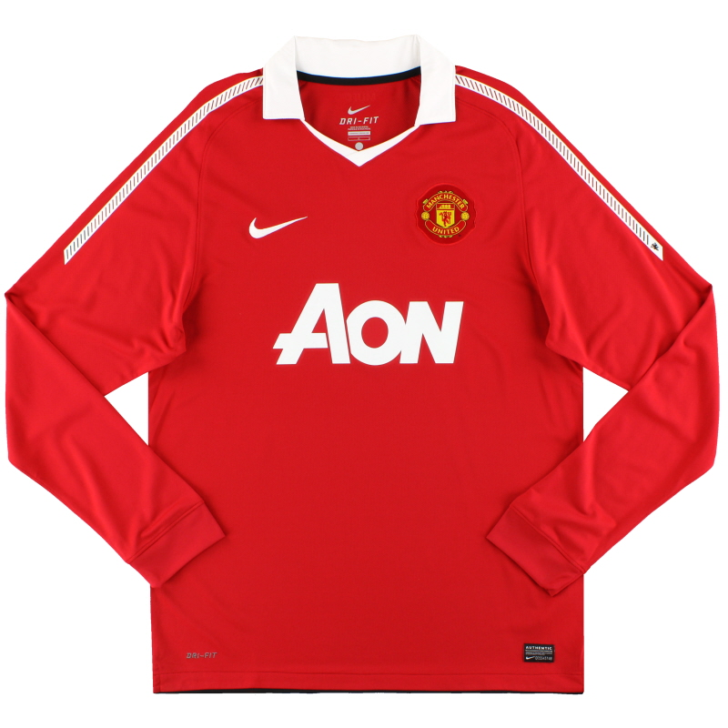 2010-11 Manchester United Home Shirt L/S L - 382996-623