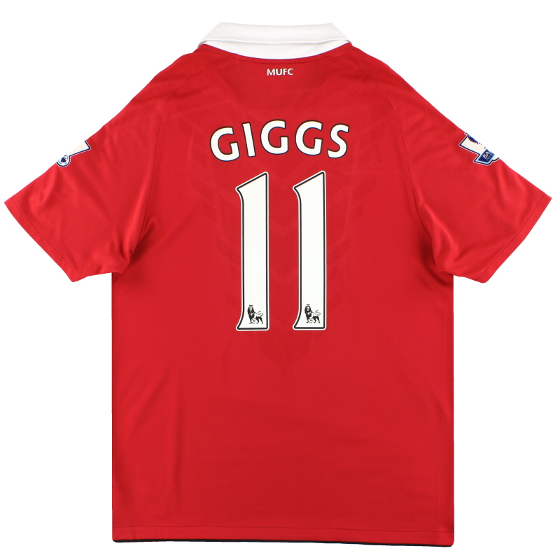 2010-11 Manchester United Nike Home Shirt Giggs #11 L - 382469-623