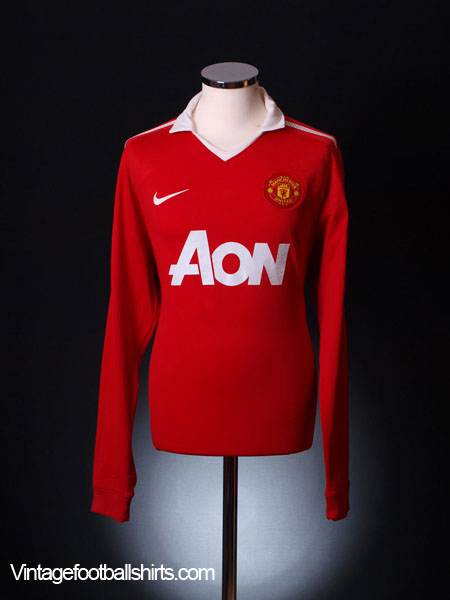 2010-11 Manchester United Home Shirt L/S M.Boys