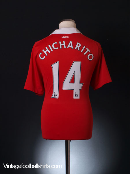 2010-11 Manchester United Home Shirt Chicharito #14 M