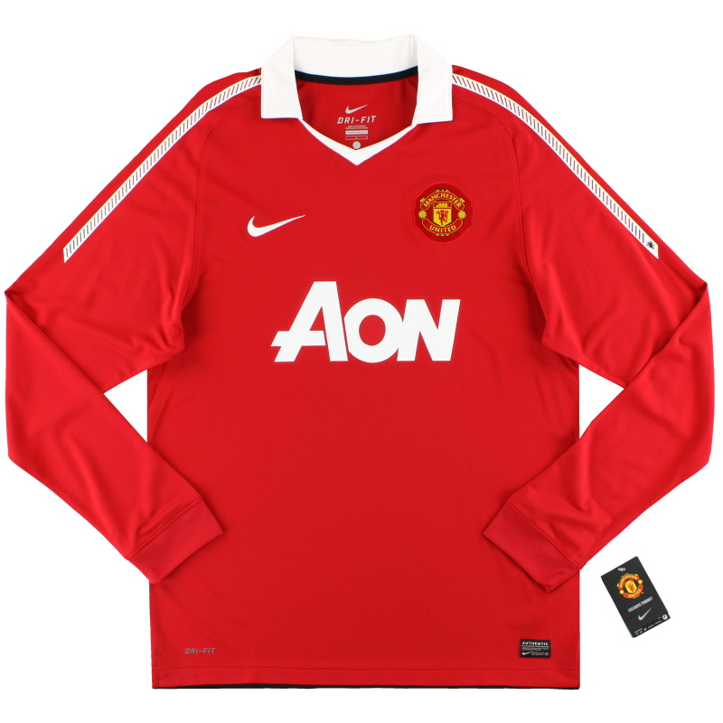 2010-11 Manchester United Nike Home Shirt L/S *w/tags* L - 382996-623