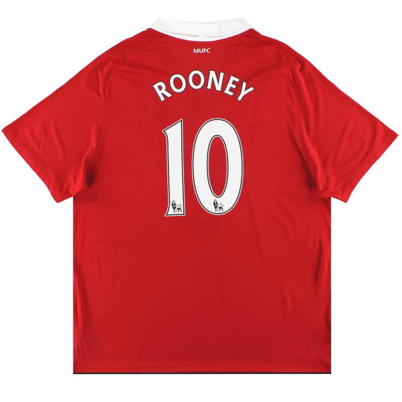 2010-11 Manchester United Nike Home Shirt Rooney #10 XXL - 382459 623