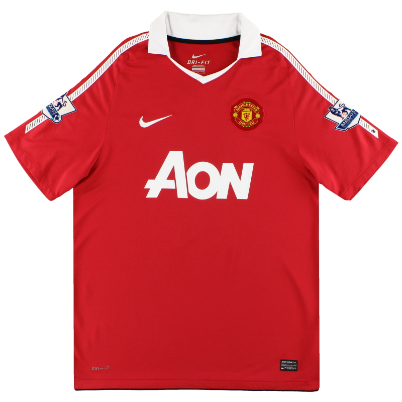 2010-11 Manchester United Nike Home Shirt S - 382459-623