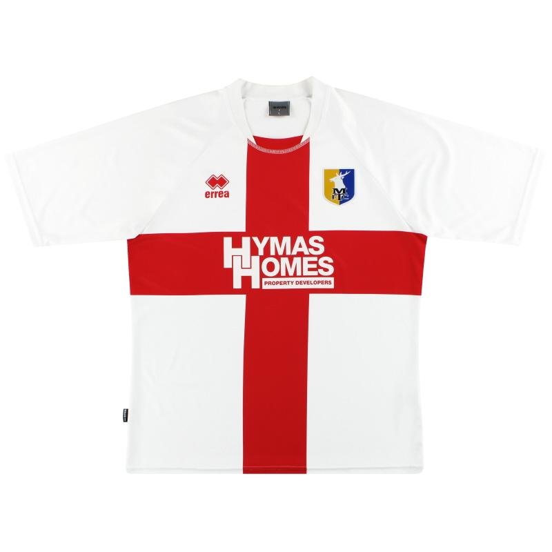 2010-11 Mansfield Town Errea Away Shirt L
