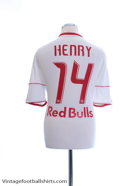 2010-11 New York Red Bulls Home Shirt Henry #14 L - O25387
