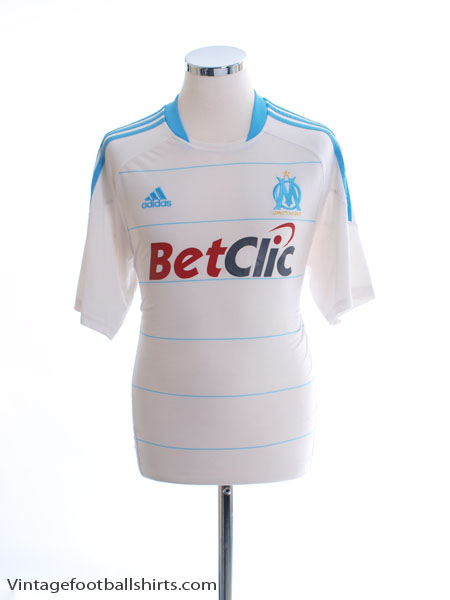 2010-11 Olympique Marseille Home Shirt *Mint* S - P96784