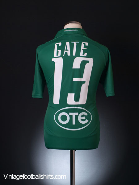 2010-11 Panathinaikos Home Shirt Gate #13 L