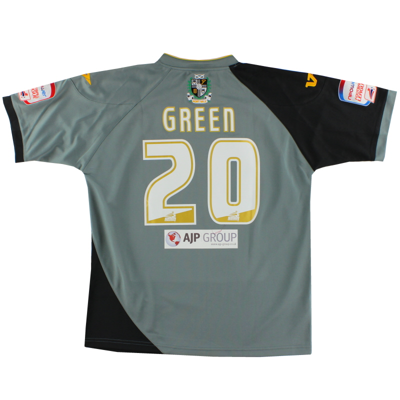 2010-11 Port Vale Player Issue Away Shirt Green #20 XL