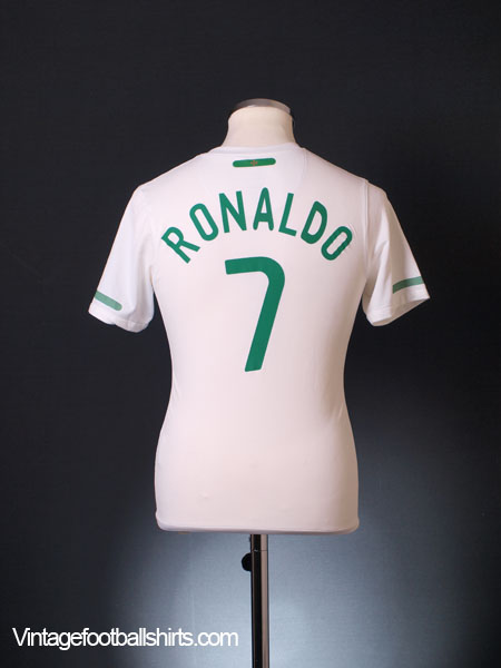 2010-11 Portugal Away Shirt Ronaldo #7 L.Boys