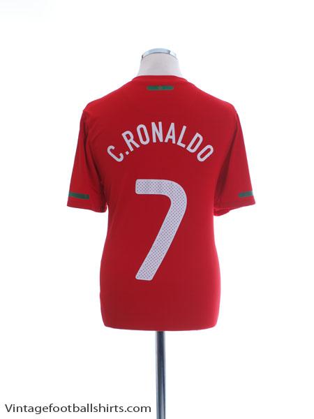 2010-11 Portugal Home Shirt C.Ronaldo #7 M - 376894-611