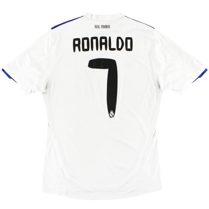 2010-11 Real Madrid adidas Home Shirt Ronaldo #7 M - P96163