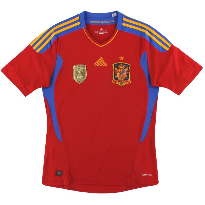 2010-11 Spain adidas Home Shirt *Mint* S - V14921