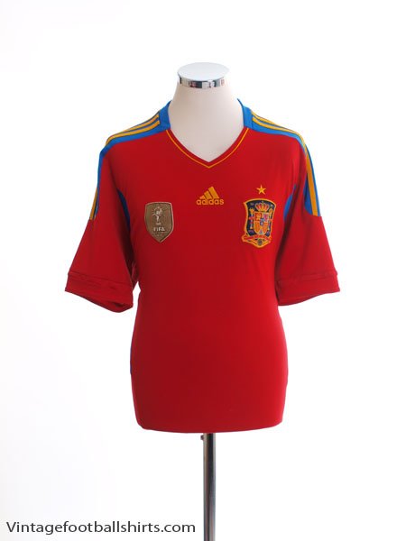 2010-11 Spain Home Shirt M