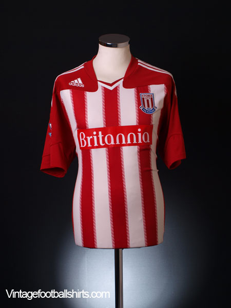 2010-11 Stoke City Home Shirt L