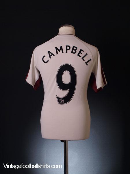 2010-11 Sunderland Away Shirt Campbell #9 M