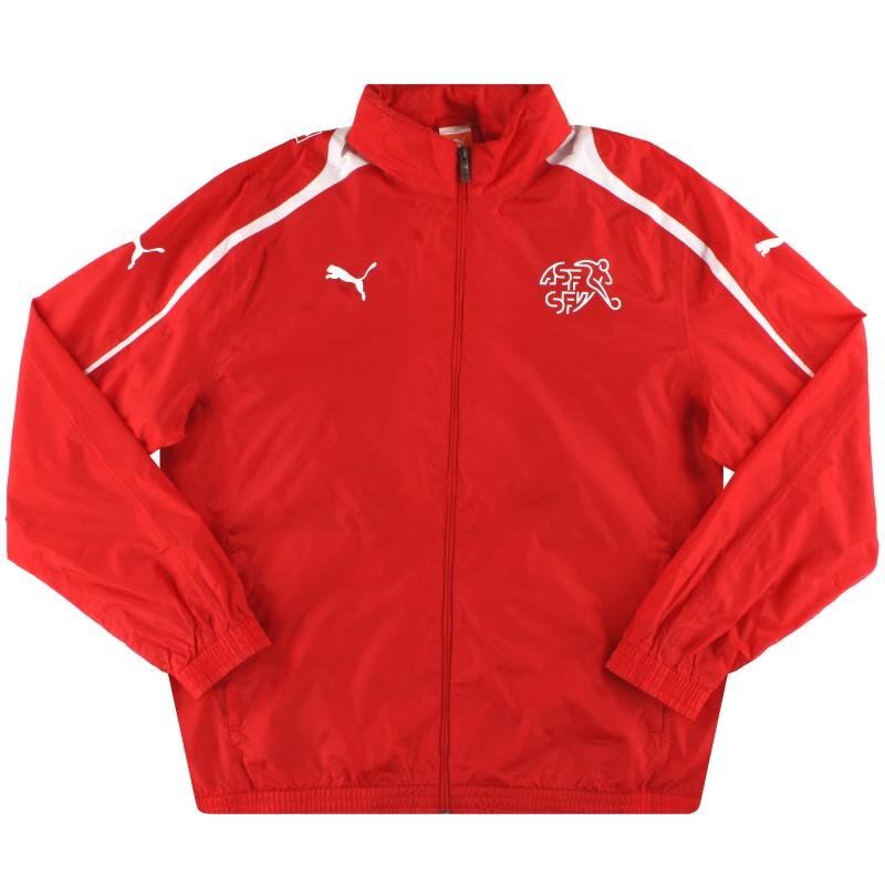 2010-11 Switzerland Puma Hooded Rain Coat XXL - 740242