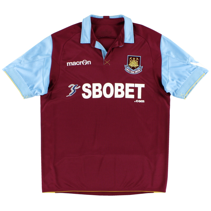 2010-11 West Ham Home Shirt L