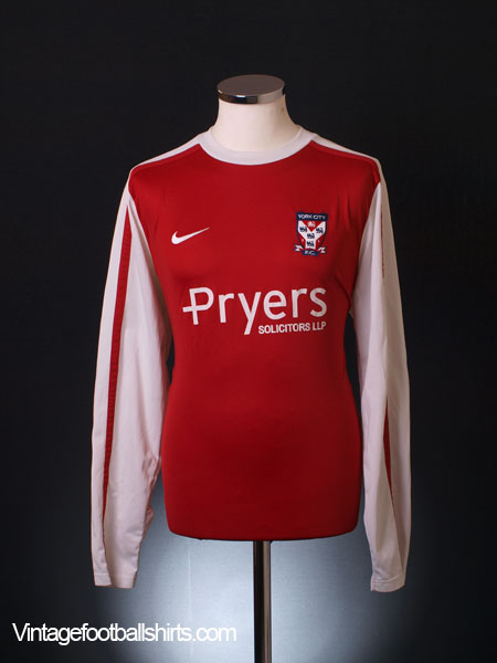 2010-11 York City Home Shirt L/S L