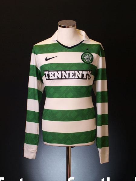 2010-12 Celtic Home Shirt L/S M