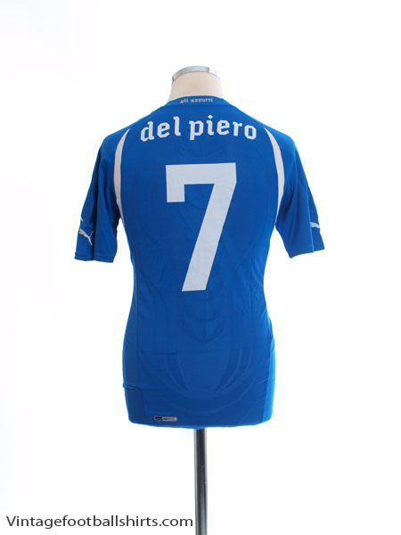 2010-12 Italy Home Shirt Del Piero #7 *Mint* L - 736646