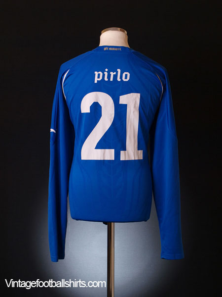 2010-12 Italy Home Shirt Pirlo #21 *As new* L/S XXL
