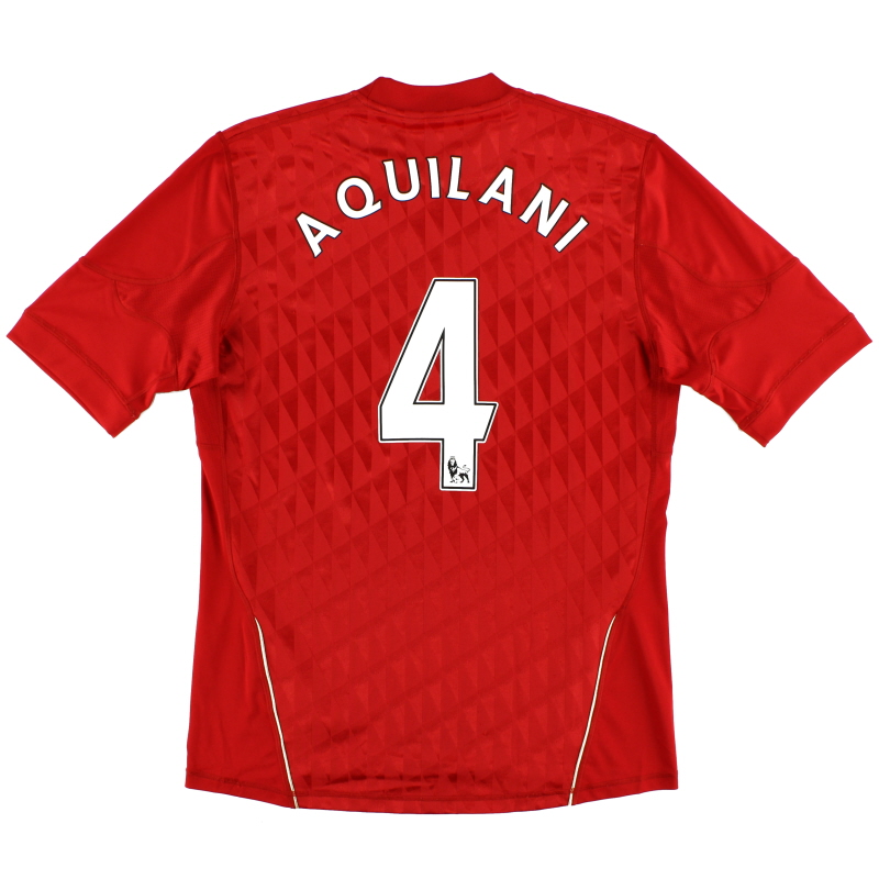 2010-12 Liverpool Home Shirt Aquilani #4 M